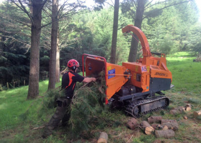 tracked-chipper-working